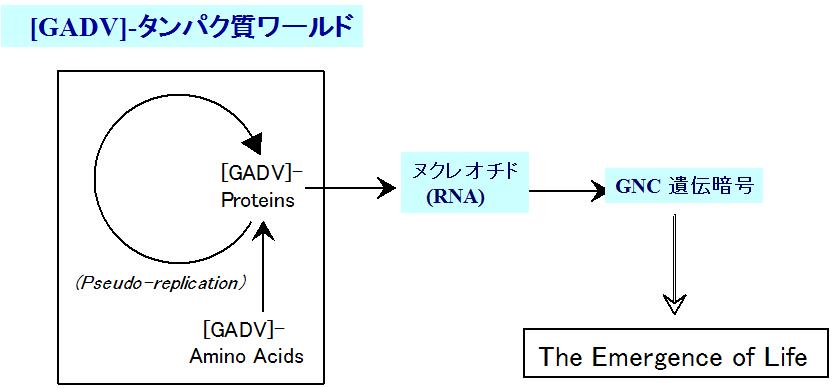 [GADV]-タンパク質ワールド仮説 (GADV 仮説)